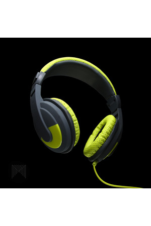 MConnected Headphones - Over Ear Soundstorm Headphones with Remote: Green