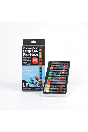 Micador Oil Pastels - Large Colourfun (Pack of 12)
