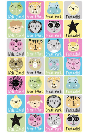 Scandi Animals Reward Stickers