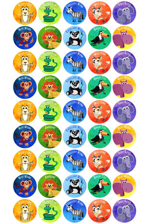 Jungle Animals Reward Stickers