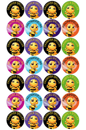 Champion Speller Reward Stickers