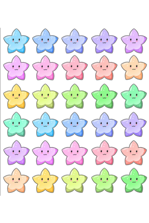 Rainbow Stars Reward Stickers