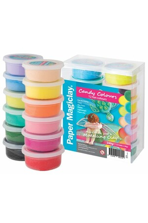 Paper Magiclay - 240g: Candy Colours (Pack of 12)