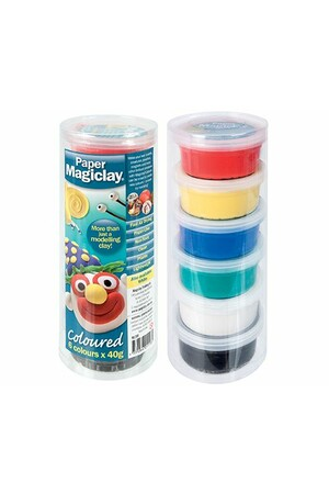 Paper Magiclay - 240g (Canister of 6): Assorted Colours