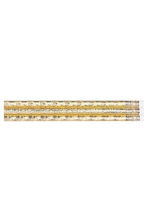 Gold Glitz Pencils - Pack of 10