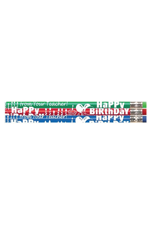Happy Birthday From Your Teacher Pencils - Pack of 10