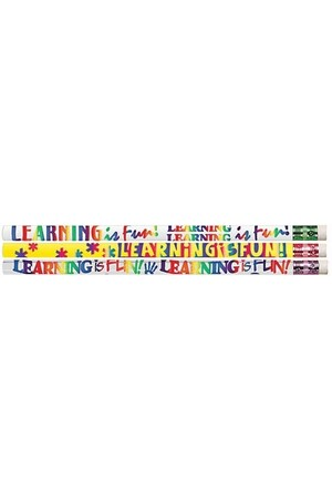Learning is Fun Pencils - Pack of 10