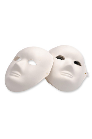 Full Mask Paper Mache - Pack of 24