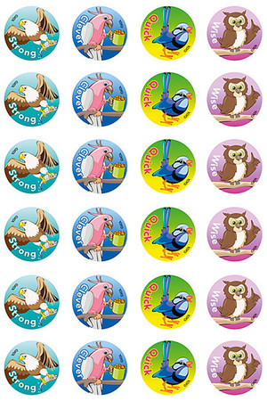Clever Birds Merit Stickers