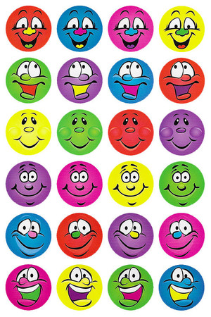 Multi Smiles Merit Stickers