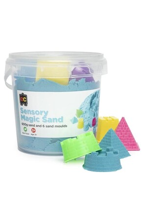 Sensory Magic Sand 600g - Blue (with moulds)