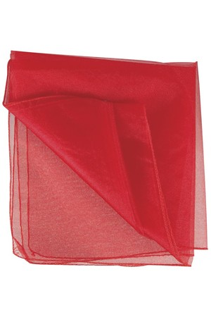 Poly Organza - Red