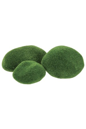 Textured Stones - Mossy (Pack of 8)