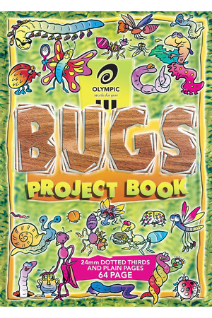 Olympic Project Book 335x245mm (Bugs) - 24mm Dotted Thirds: 64 Pages (Pack of 20)