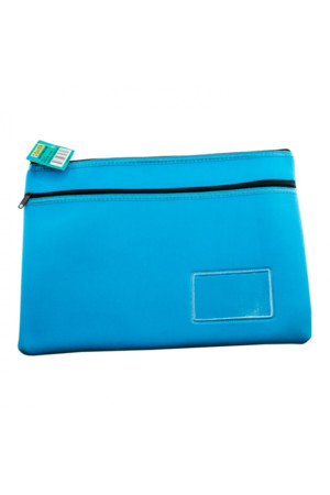 Osmer Pencil Case - Neoprene 2-Zip (35x26): Light Blue