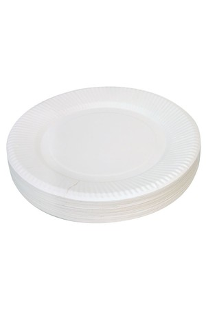 Paper Plate - White: 23cm (Pack of 50)