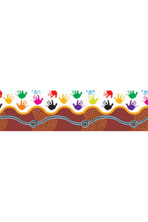 Desert Handprints Pop Apart Border: Card