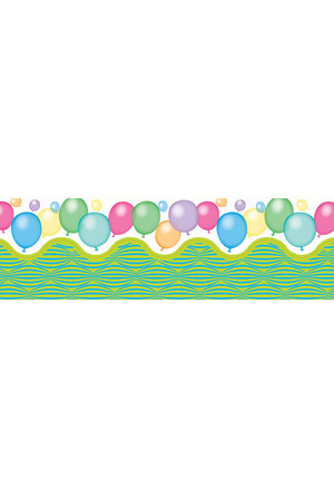 Balloons Pop Apart Border: Card