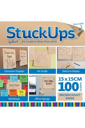 Stuck-Ups by Zart - 15 x 15cm: Brown Kraft (Pack of 100)