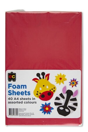 Foam Sheets (A4) - Pack of 40