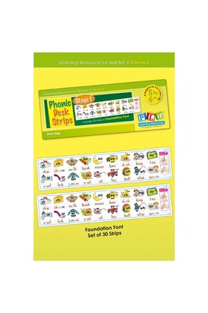 Phonic Desk Strips: Stage 1 - Foundation Font (Pack of 30)