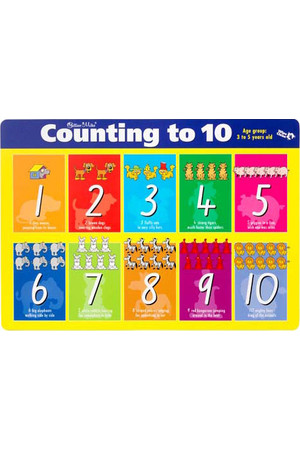 Counting to 10/Fun Exercises Double-Sided Placemat