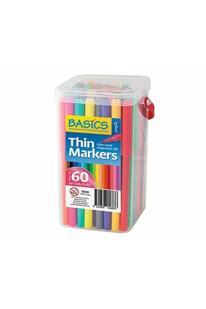 Basics - Thin Markers (Tub of 60)