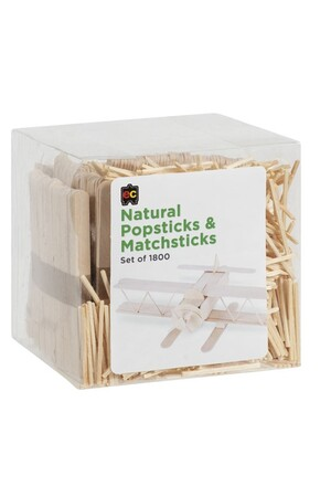 Popsticks and Matchsticks - Natural (Pack of 1800)