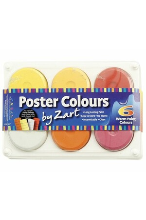 Poster Colours by Zart - Warm Palette