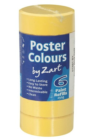 Poster Colours by Zart (Refills) - Brilliant Yellow