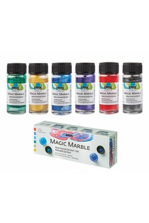Magic Marble Paint Set - Metallic