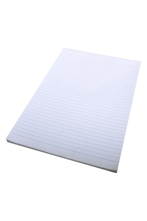 Quill Office Pads (A4) - Bond Ruled D/Sided: 100 Leaf (Pack of 10)