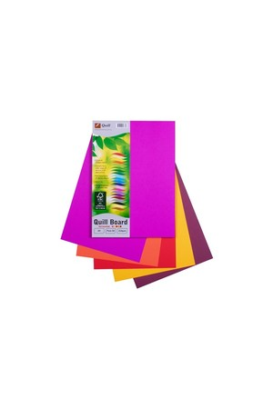 Quill Cardboard (A4) - 210gsm: Hot Assorted (Pack of 50)