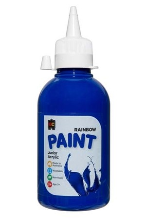 Rainbow Paint Junior Acrylic Paint 250mL - Brilliant Blue