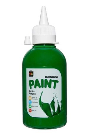 Rainbow Paint Junior Acrylic Paint 250mL - Brilliant Green