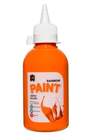Rainbow Paint Junior Acrylic Paint 250mL - Orange