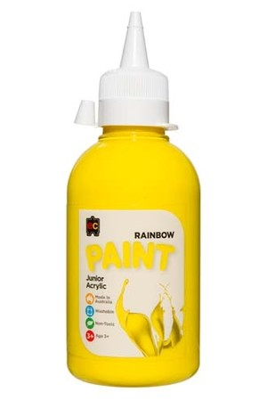Rainbow Paint Junior Acrylic Paint 250mL - Brilliant Yellow