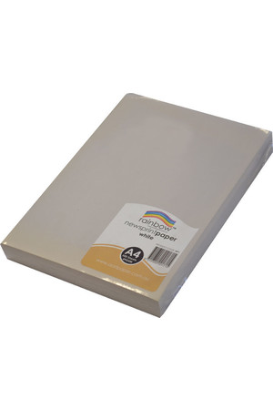 Rainbow Newsprint Paper - (A4) 49gsm White: Pack of 500