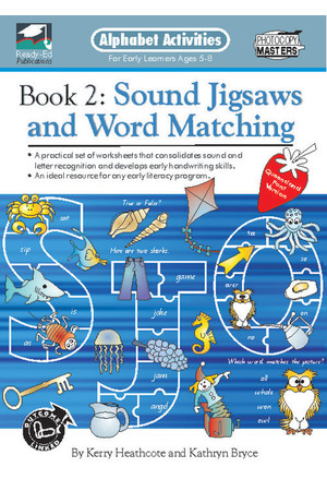 Alphabet Activities Book - Modern Cursive Font: Book 2 - Sound Jigsaws and Word Matching