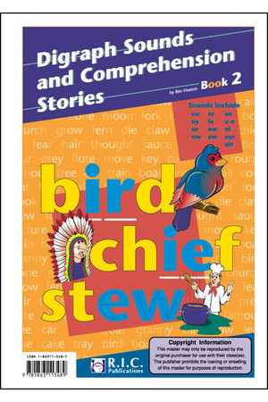Digraph Sounds and Comprehension Stories - Book 2