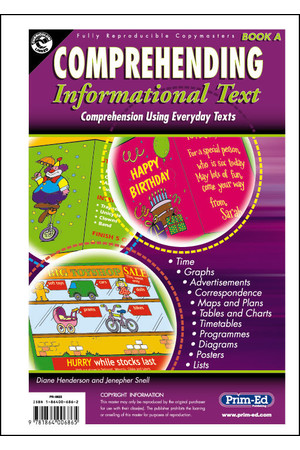 Comprehending Informational Text - Book A: Ages 5-6