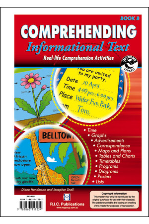 Comprehending Informational Text - Book B: Ages 6-7