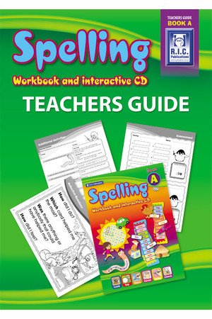 Spelling Workbook - Teachers Guide: Book A (Ages 5-6)