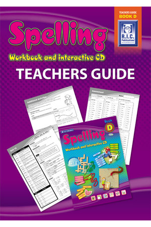 Spelling Workbook - Teachers Guide: Book D (Ages 8-9)