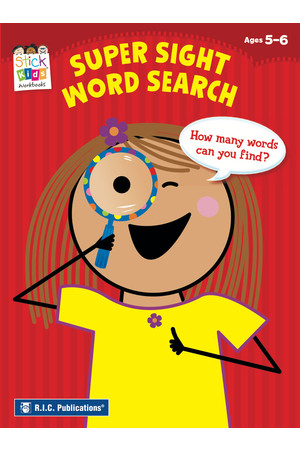 Stick Kids English - Ages 5-6: Super Sight Word Search