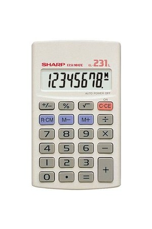 Sharp Calculator - El231LB 8 Digit