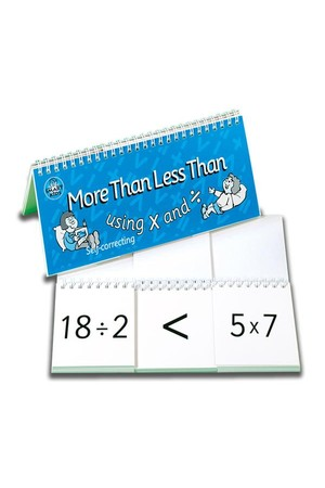 More Than, Less Than Flip Book (x and ÷)