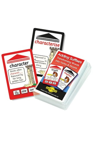 Adding Suffixes (Words into Verbs & Nouns) – Chute Cards