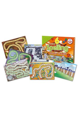Spelling Board Games (Level 2) – 6 Games
