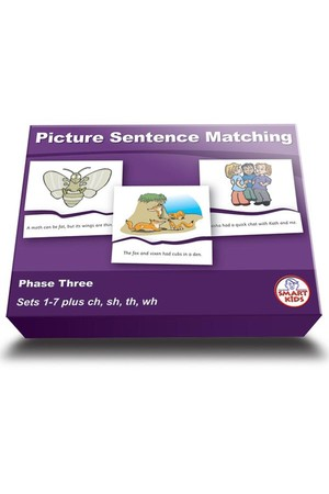 Picture Sentence Matching (Set 1) - Phase 3 (Letters and Sounds)